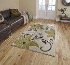 Think Rugs Verona OC15 Beige/Green - Various Sizes