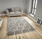 Think Rugs Noble House NH30782 Grey/White - Various Sizes