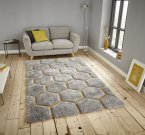 Think Rugs Noble House NH30782 Grey/Yellow - Various Sizes