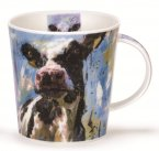 Dunoon Cairngorm Shape Fine Bone China Mug - Animals on Canvas - Cow