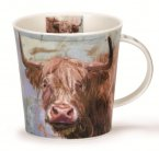 Dunoon Cairngorm Shape Fine Bone China Mug - Animals on Canvas - Highland Cow