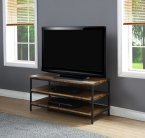 Jual Rustic Oak Solid Wood & Black Steel  TV Stand