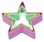 Sweetly Does It Set of Three Star Shaped Cookie Cutters