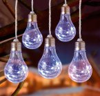 Premier Decorations 5 Piece Battery Operated Edison Bulb Copper Wire - White