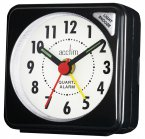 Acctim Ingot Travel Alarm Clock Black