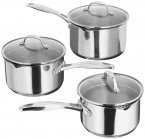 Stellar 7000 Draining 3 Piece Saucepan Set 16/18/20cm