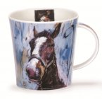 Dunoon Cairngorm Shape Fine Bone China Mug - Animals on Canvas - Horse
