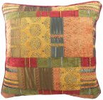 "Evans Lichfield Morocco Cushion 17"" Piped Terracotta"