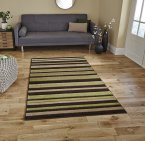 Think Rugs Matrix MT22 Brown/Green