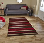 Think Rugs Matrix MT22 Brown/Red