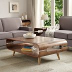 Jual Coffee Table in Walnut with Ash Spindle Legs