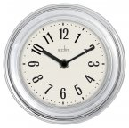 Acctim Riva Wall Clock Silver 17.5cm