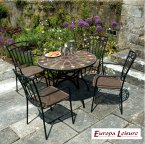 Europa Stone GRANADA Patio Table with 4 Malaga Chair Set