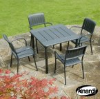 Nardi Maestrale 90 Table & 4 Musa Chairs Set - Anthracite