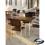Nardi Maestrale 90 Table & 4 Musa Chairs Set - Coffee