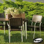 Nardi Coffee Maestrale 220 Table with 6 Musa Chair Set