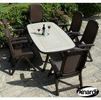Nardi Coffee Toscana 165 Ravenna with 6 Delta Chair Set