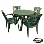 Nardi Green Toscana 100 Plain with 4 Diana Chair Set