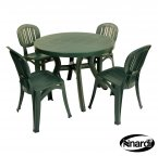 Nardi Green Toscana 100 Plain with 4 Elba Chair Set