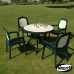 Nardi Green Toscana 100 Ravenna with 4 Beta Chair Set