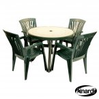 Nardi Green Toscana 100 Ravenna with 4 Diana Chair Set