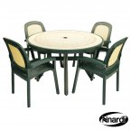 Nardi Green Toscana 120 Ravenna with 4 Beta Chair Set