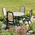 Nardi Green Toscana 120 Ravenna with 4 Delta Chair Set