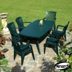 Nardi Green Toscana 165 Plain with 6 Diana Chair Set