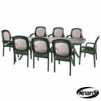 Nardi Green Toscana 250 Ravenna with 8 Beta Chair Set