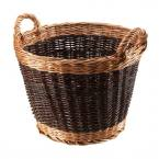 Manor Reproductions Duo Tone Log Basket Small