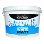 Crown Matt Emulsion Pure Brilliant White 7.5 Litre