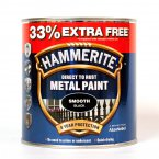 Hammerite Direct to Rust Metal Paint 750ml - Smooth Black