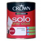 Crown Solo Gloss Pure Brilliant White 3 Litre