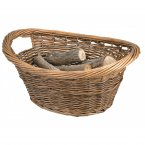 Manor Reproductions Cradle Log Basket