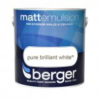 Berger Vinyl Matt Pure Brilliant White 1 Litre