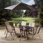 Padfield 6 Seat Dining Set with Parasol