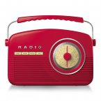 Akai Retro Radio - Red