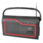 LLoytron Ibiza 2 Band AC/DC Portable Radio - Black
