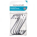KitchenCraft Pack of Five Chrome Plated 'S' Hooks 130mm