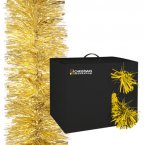 The Christmas Workshop Tinsel Garland 15cm x 10M - Gold