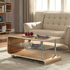 Jual BS200 Collection Ash & Clear Glass Coffee Table