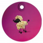 KitchenCraft Toughened Glass Round Worktop Protector - Poodle