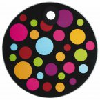 KitchenCraft Toughened Glass Round Worktop Protector - Polka
