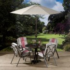 Pesaro 4 Seat Dining Set With Stacking Chairs