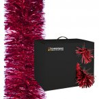 The Christmas Workshop Tinsel Garland 10M - Red