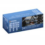 The Christmas Workshop Icicle Chaser Lights 24 LED - Blue