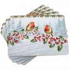 The Leonardo Collection MacNeil Christmas Robins Placemats (Set of 4)