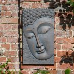 Solstice Sculptures Buddha Plaque Portrait Bronze Effect