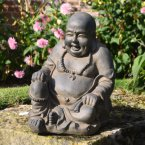 Solstice Sculptures Buddhist Monk Sitting Rust Effect