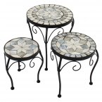 Summer Terrace Verde Plantstand Set Of 3 Low